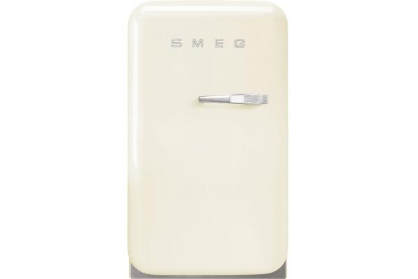 Large image of Smeg 50's Retro Style Cream Left-Hinge Mini Refrigerator - FAB5ULCR3