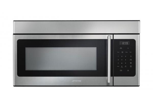 """Large image of Smeg 30"""" Fingerprint-Proof Stainless Steel Over-the-Range Microwave - OTR316XU"""