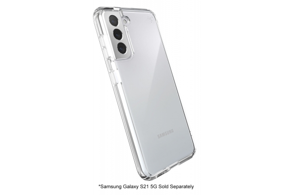 Large image of Speck Presidio Perfect-Clear Samsung Galaxy S21 5G Case - 139889-5085