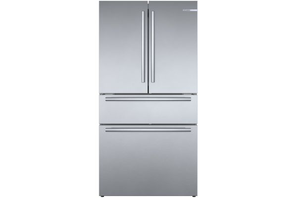 "Large image of Bosch 800 Series 36"" Stainless Steel Counter-Depth 4-Door Refrigerator - B36CL80SNS"