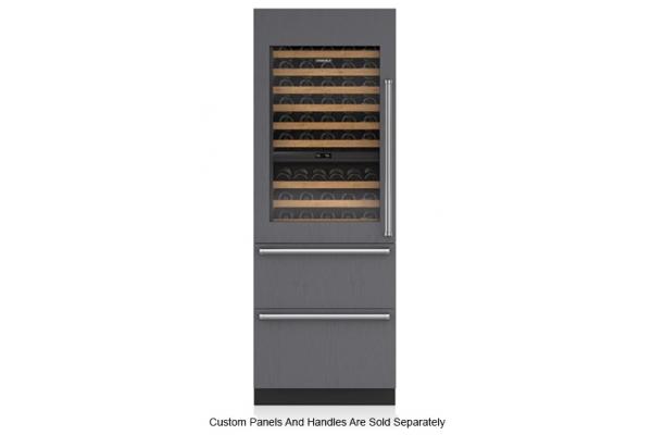"Large image of Sub-Zero 30"" Panel Ready Integrated Left Hinge Wine Storage With Refrigerator & Freezer Drawers - IW-30CI-LH"