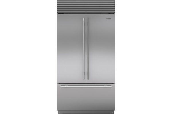 """Large image of Sub-Zero 42"""" Stainless Steel Classic French Door Refrigerator With Internal Dispenser - BI42UFDIDSTH"""
