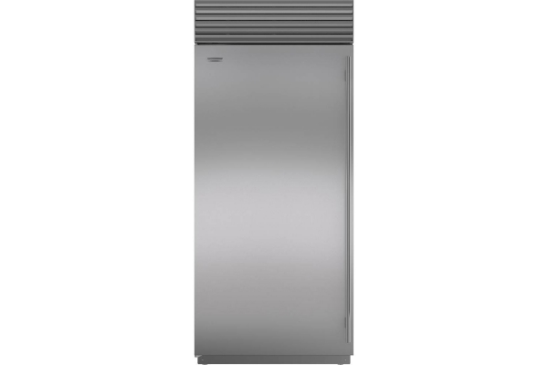 "Large image of Sub-Zero 36"" Stainless Steel Left-Hinge Classic Refrigerator - BI-36R/S/TH-LH"