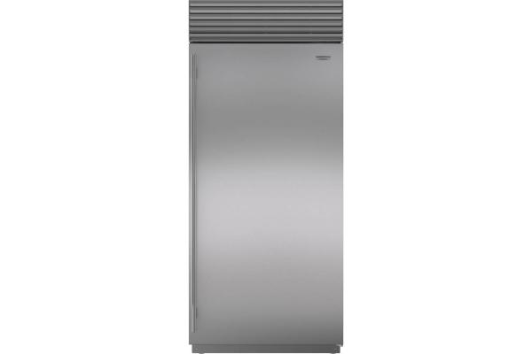 "Large image of Sub-Zero 36"" Stainless Steel Right-Hinge Classic Refrigerator - BI-36R/S/TH-RH"