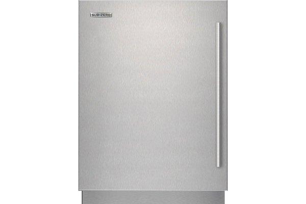 Large image of Sub-Zero Stainless Steel Left-Hinge Door Panel With Tubular Handle - 9029029