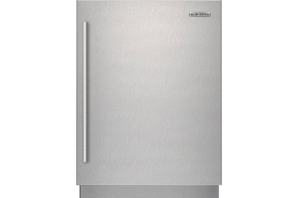 Large image of Sub-Zero Stainless Steel Right-Hinge Door Panel With Tubular Handle - 9029035