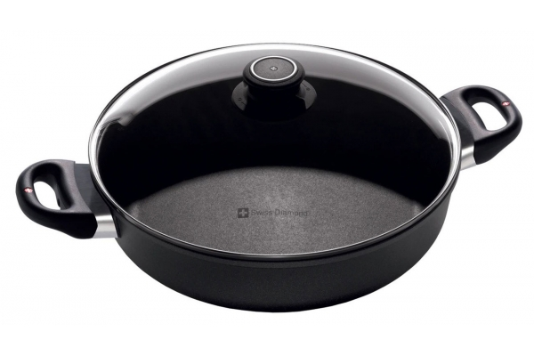 "Large image of Swiss Diamond XD 4.8 Qt. 11"" Nonstick Sauteuse with Lid - XD6628C"