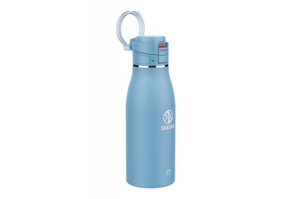 Large image of Takeya 17 Oz Bluestone Traveler Insulated Water Bottle - 51286