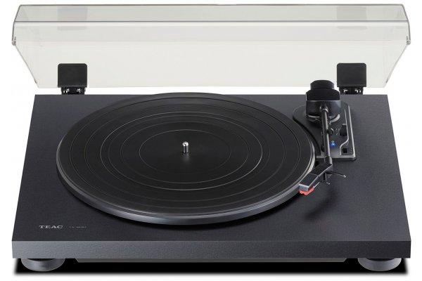 Large image of Teac TN-180BT 3-Speed Black Turntable With Bluetooth - TN180BTA3B