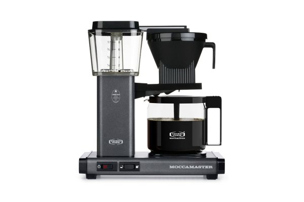 Large image of Technivorm KBGV Select Moccamaster 10-Cup Stone Grey Coffee Maker - 53949