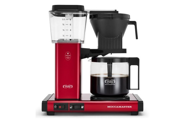 Large image of Technivorm KBGV Select Moccamaster 10-Cup Candy Apple Red Coffee Maker - 53944T