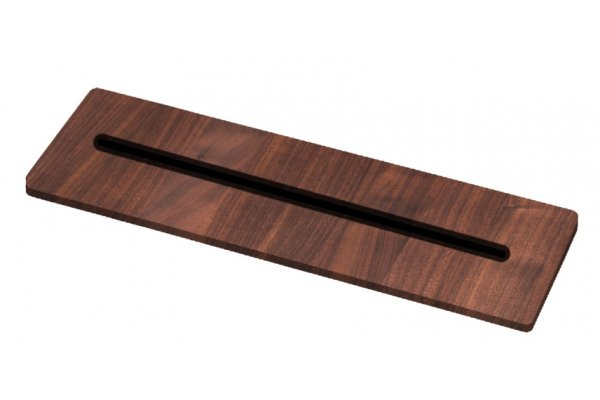 Large image of The Galley Walnut Countertop Recessed Knife Block - KB-04-C-WA
