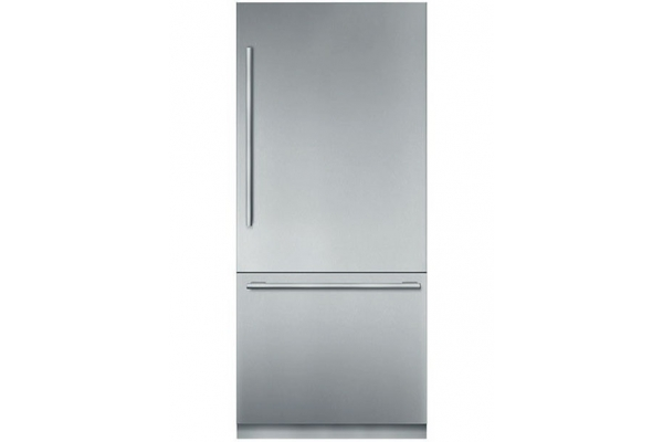 """Large image of Thermador Freedom Collection 36"""" Stainless Steel Built-In 2-Door Bottom Freezer Refrigerator With Masterpiece Series Handles - T36BB915SS"""