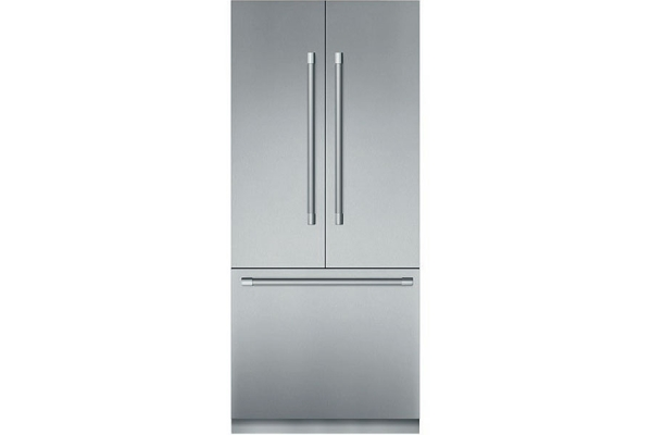 "Large image of Thermador Freedom Collection 36"" Stainless Steel Built-In French Door Refrigerator With Professional Series Handles - T36BT925NS"