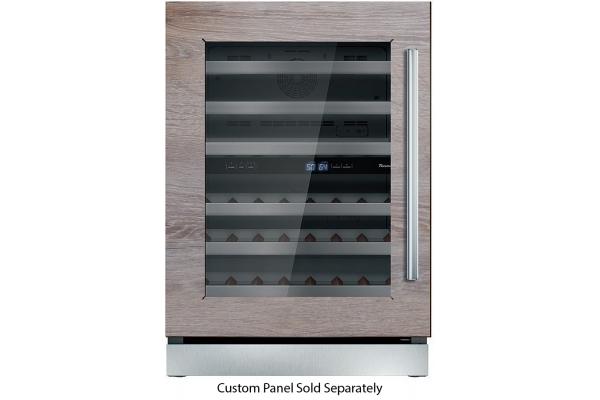 "Large image of Thermador 24"" Custom Panel Left-Hinge Wine Refrigerator - T24UW900LP"
