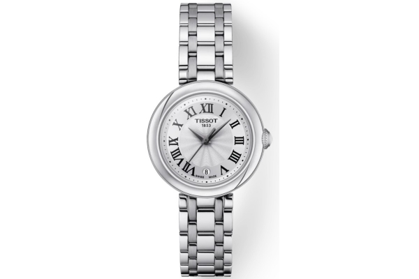 Large image of Tissot Bellissima Small Lady White Dial Stainless Steel Watch, 26mm - T1260101101300