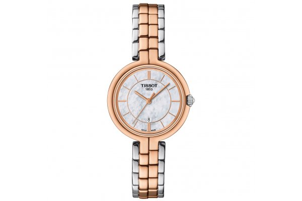 Large image of Tissot Flamingo Two-Tone Stainless Steel Womens Watch - T0942102211100