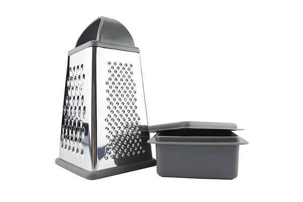 Large image of Tovolo 4-Sided Stainless Steel Box Grater w/ Storage Container - 6127299