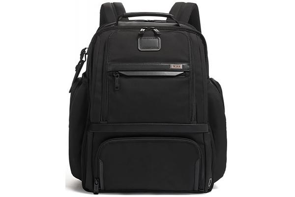 Large image of TUMI Alpha 3 Black Travel Packing Backpack - 135529-1041