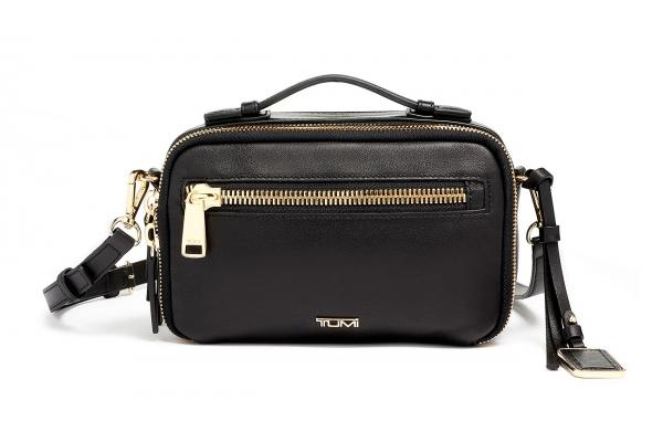 Large image of TUMI Voyageur Black Leather Marcie Crossbody - 135498-1041