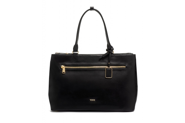Large image of TUMI Voyageur Black Leather Sidney Buisness Tote - 1354971041