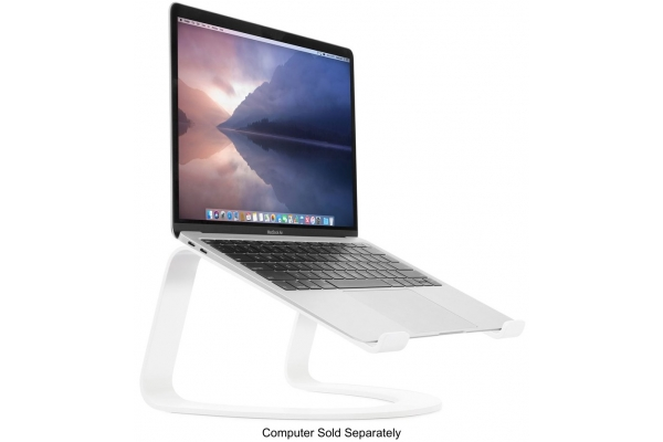 Large image of Twelve South White Curve Laptop Stand For MacBook - 12-1915
