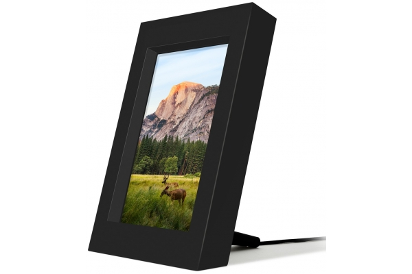 Large image of Twelve South Black PowerPic Qi Wireless Charging Photo Frame - 12-1809
