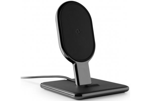 Large image of Twelve South Black HiRise Wireless 2-In-1 Desktop Charging Stand - 12-1811