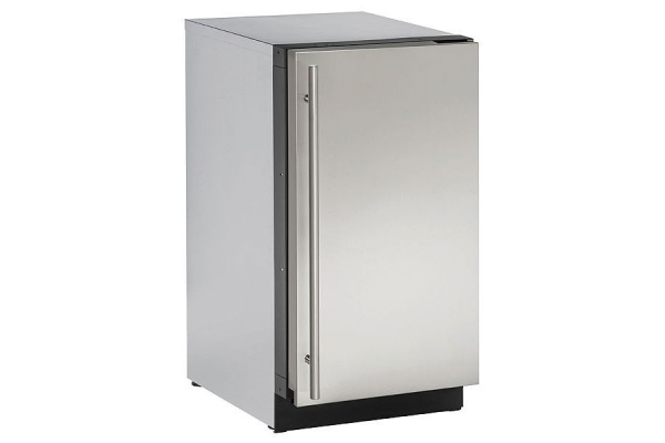 "Large image of U-Line 18"" Stainless Steel Solid Door Compact Refrigerator - U-2218RS-00B"