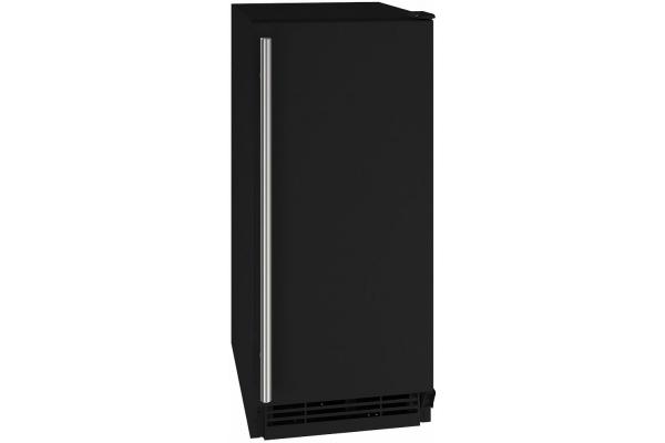 """Large image of U-Line 15"""" Black Solid Refrigerator - UHRE115-BS01A"""