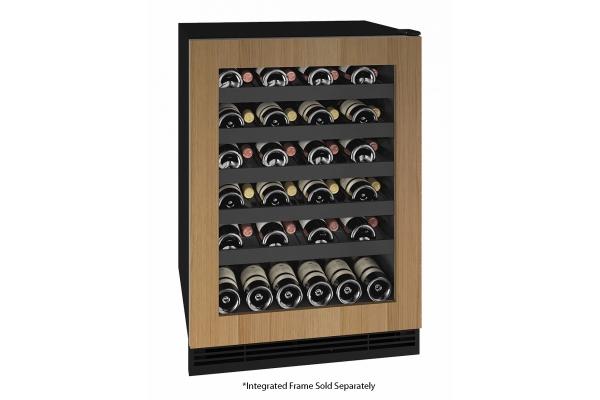 "Large image of U-Line 24"" Integrated Frame Wine Refrigerator - UHWC124-IG01A"