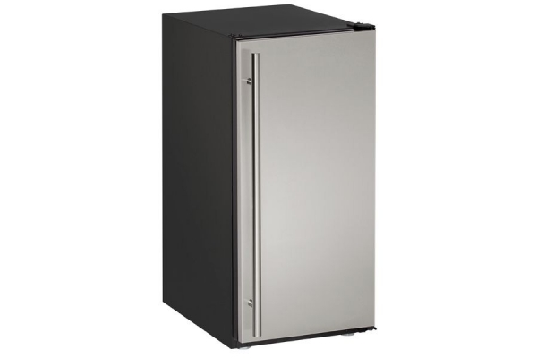 """Large image of U-Line 15"""" ADA Collection Stainless Steel Crescent Ice Maker - U-ADA15IMS-00B"""