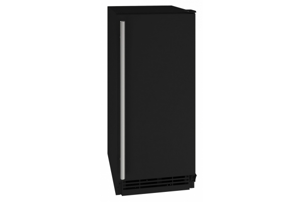 "Large image of U-Line 15"" 1 Class Black Crescent Ice Maker - UHCR115-BS01A"