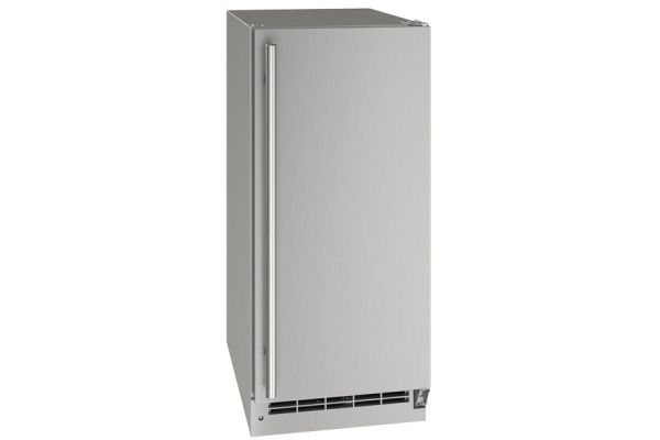 """Large image of U-Line Outdoor Collection 15"""" Stainless Solid Clear Ice Machine - UOCL115-SS01A"""