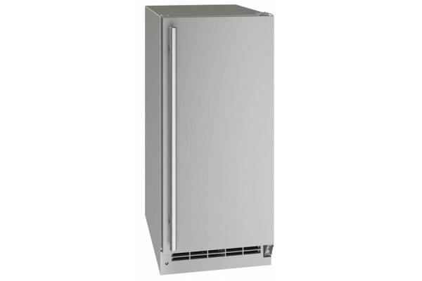 """Large image of U-Line 15"""" Outdoor Collection Stainless Steel Crescent Ice Maker - UOCR115-SS01A"""