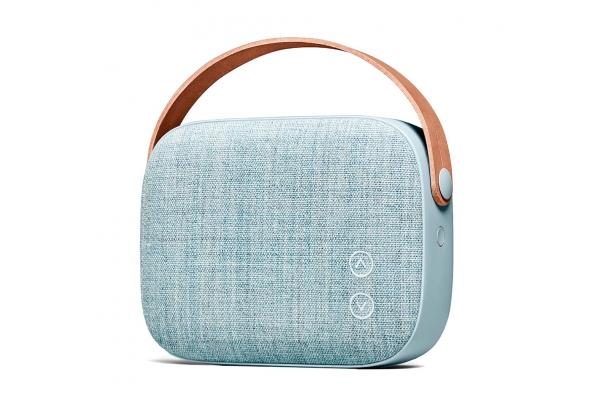 Large image of Vifa Helsinki Misty Blue Portable Bluetooth Speaker - 83084