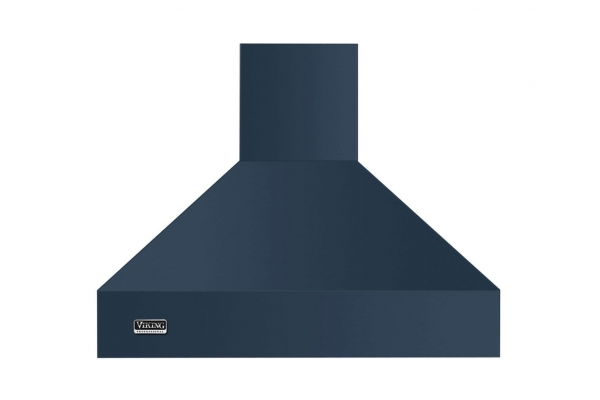 "Large image of Viking 36"" Professional 5 Series Slate Blue Chimney Island Hood - VCIH53608SB"