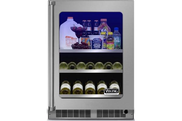 "Large image of Viking 24"" Professional Stainless Steel Beverage Center - VBUI5240GRSS"