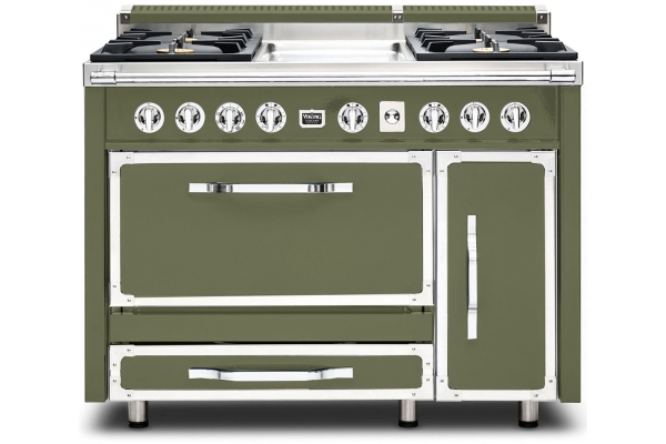 "Large image of Viking 48"" Tuscany Series Cypress Green Dual Fuel Range - TVDR4814GCY"