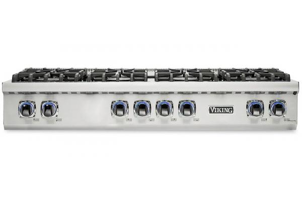 "Large image of Viking Professional 7 Series 48"" Stainless Steel Gas Rangetop - VRT7488BSS"