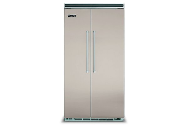 """Large image of Viking Quiet Cool 5 Series 42"""" Pacific Gray Built-In Side-By-Side Refrigerator - VCSB5423PG"""