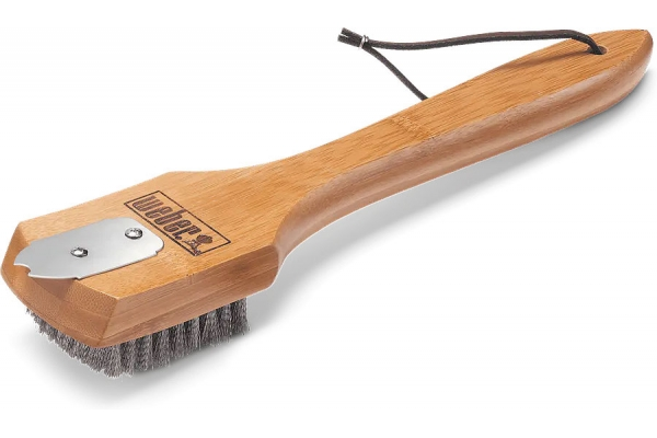 "Large image of Weber 12"" Bamboo Grill Brush - 6463"