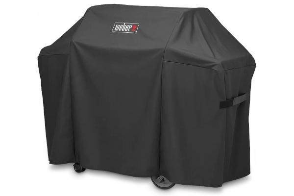 Large image of Weber Genesis II Premium Black 3 Burner Grill Cover - 7130