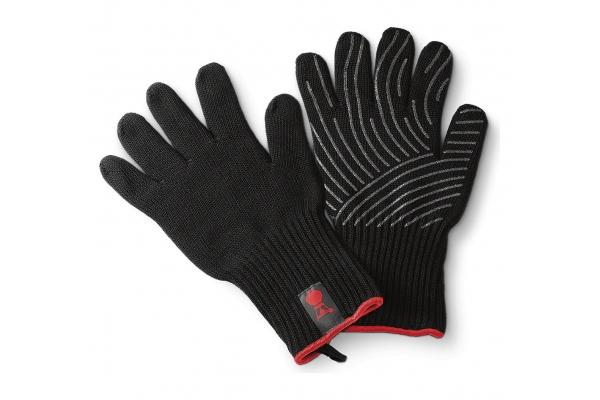 Large image of Weber Premium Size L/XL Black Barbecue Glove Set - 6535