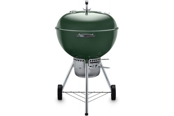 """Large image of Weber 22"""" Original Kettle Premium Green Charcoal Grill - 14407001"""
