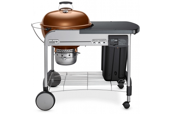 """Large image of Weber 22"""" Copper Performer Deluxe Charcoal Grill - 15502001"""