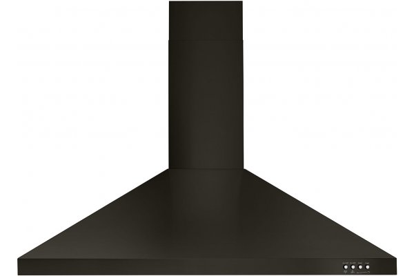 """Large image of Whirlpool 36"""" Black Stainless Steel Contemporary Wall Hood - WVW53UC6HV"""