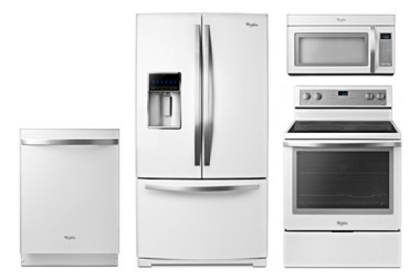 Large image of Whirlpool Gold White Ice Appliance Package with Electric Range - WHIRPACK2