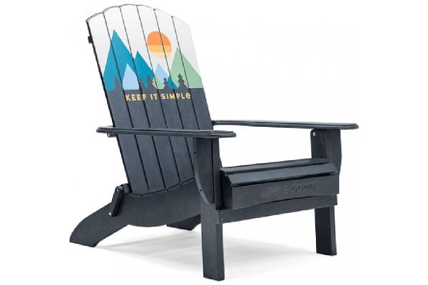 Large image of Winston Furniture Life Is Good Keep It Simple Blue Adirondack Chair - LIGC7-B