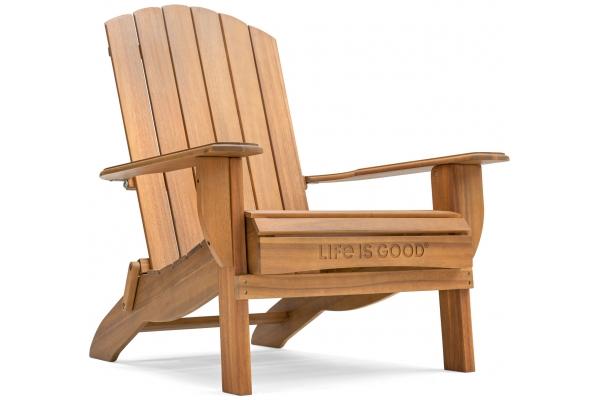 Large image of Winston Furniture Life Is Good Natural Wood Adirondack Chair - LIGC7-N